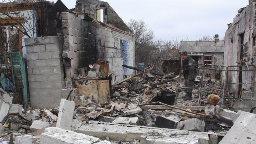 Разрушения в Донецк