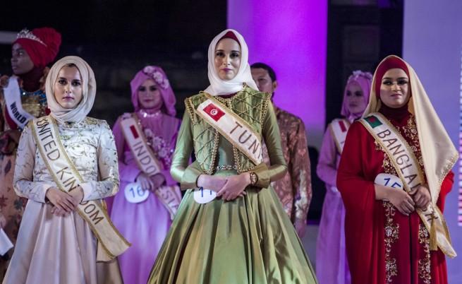 Тунизийка стана Мюсюлманска мис Свят