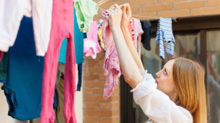 пране сушене пералня дрехи