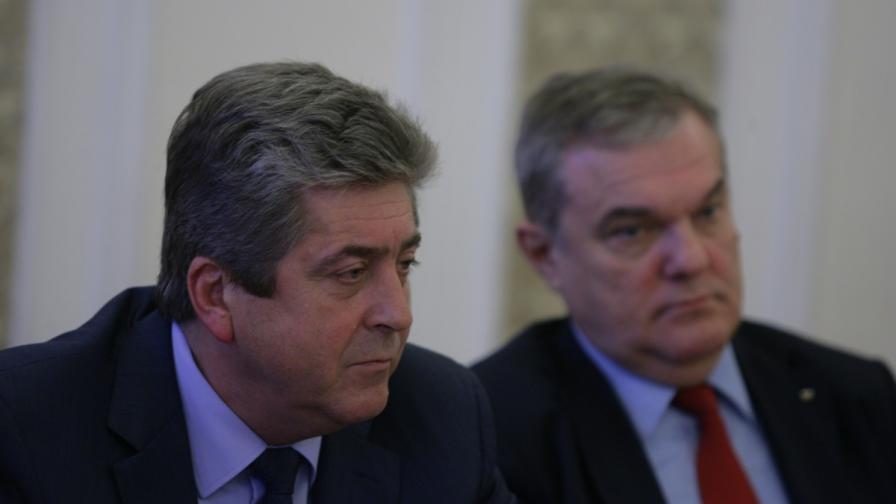 Георги Първанов и Румен Петков