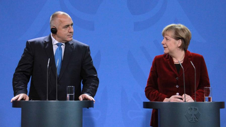 Бойко Борисов и Ангела Меркел на пресконференция във Федералното канцлерство в Берлин