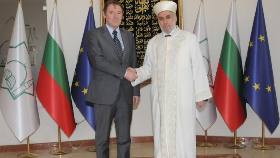 Главния мюфтия Мустафа Хаджи прие председателя на ДАНС Владимир Писанчев в Главно мюфтийство