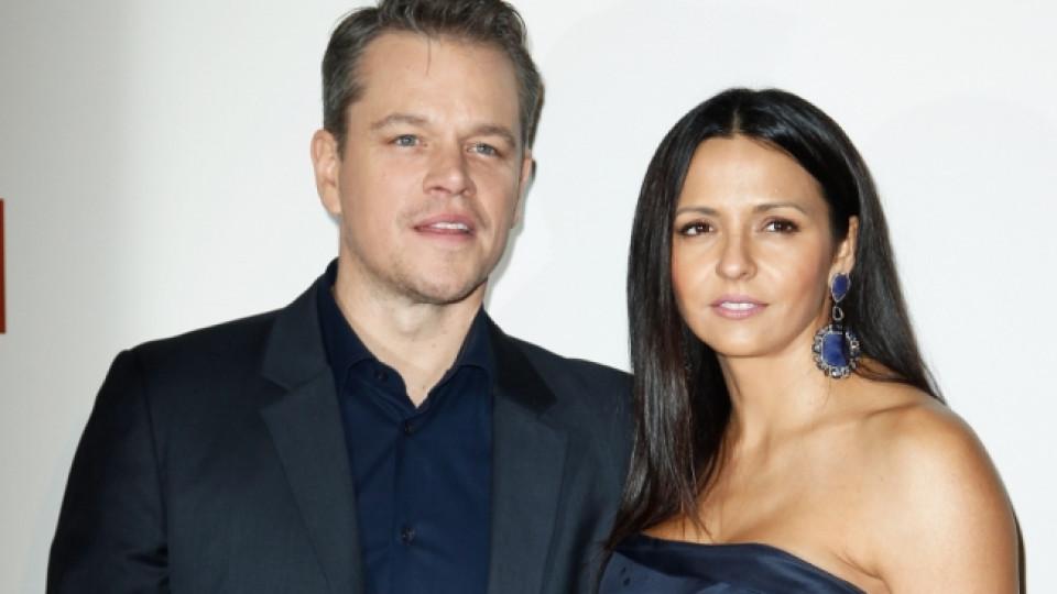 Мат Деймън и съпругата му Лучия