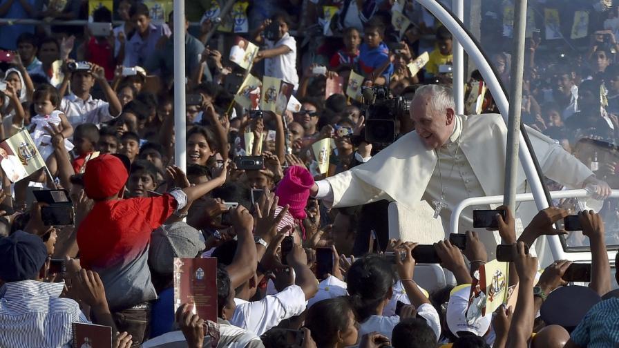 Папа Франциск отслужи литургия пред 1 млн. души в Шри Ланка