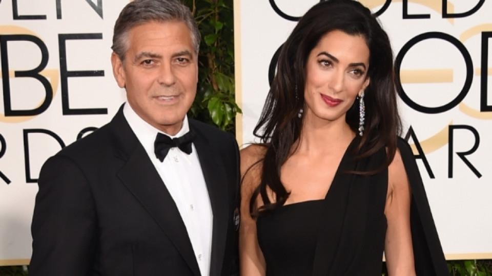 """Джордж Клуни и Амал Аламудин на наградите """"Златен глобус"""""""