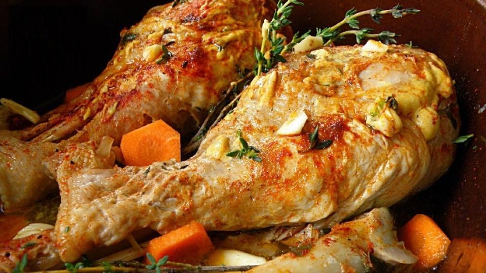 Печени пилешки бутчета