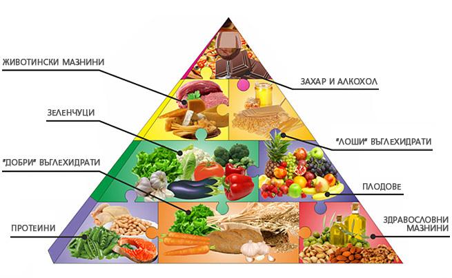 Пирамидата на здравословното хранене показва кои са най-полезните храни