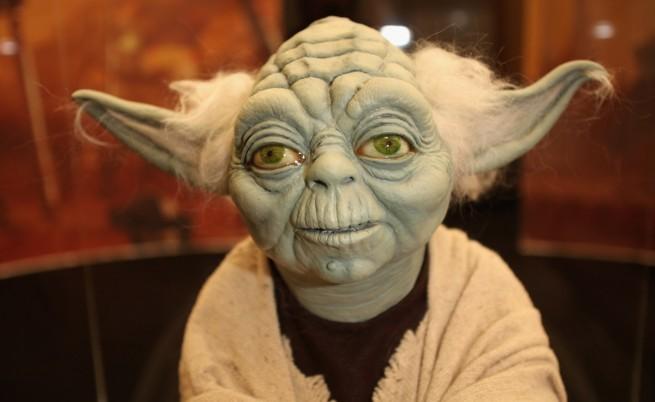 Йода влиза в музея на мадам Тюсо