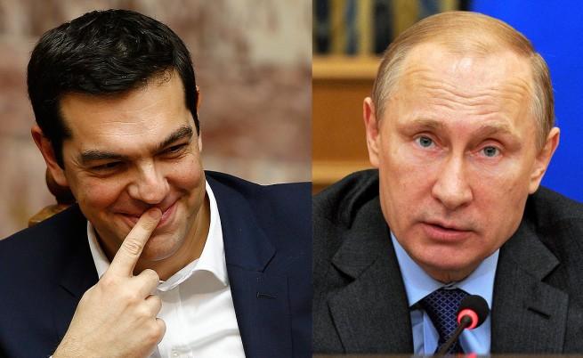 """Путин и Ципрас обсъдиха Украйна, """"Южен поток"""" и """"Турски поток"""""""