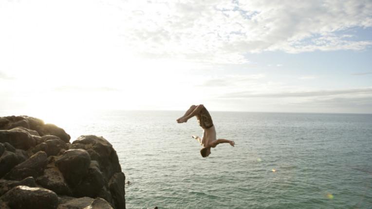 скачане от скали екстремност