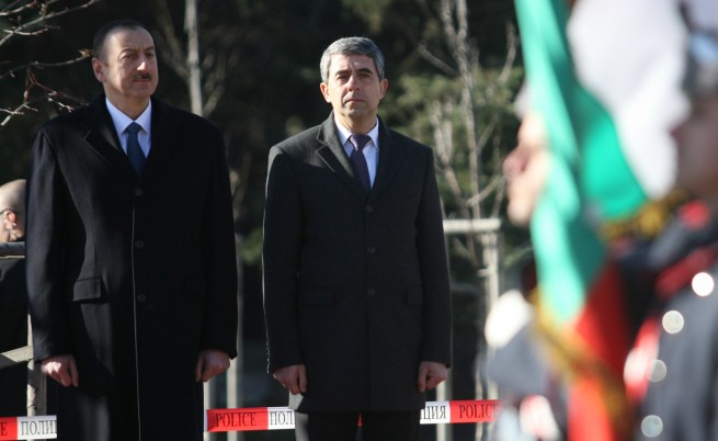 Президентите Росен Плевнелиев и Илхам Алиев