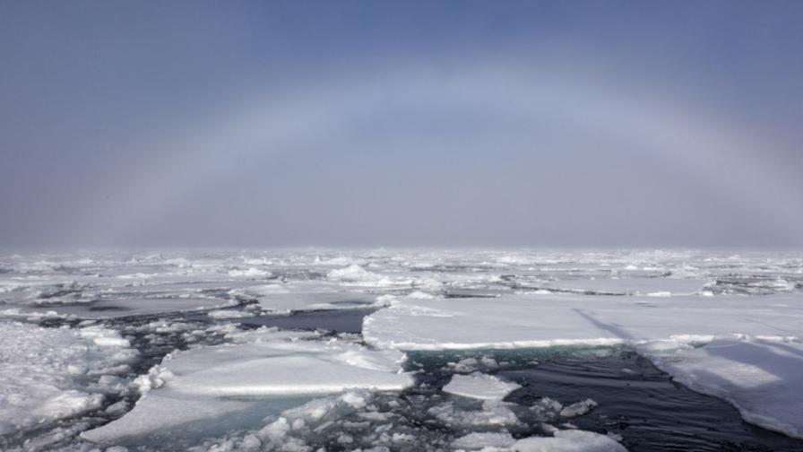 Арктическият лед рекордно малко през зимата