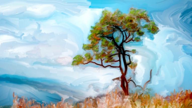 изкуство дърво картина