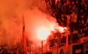 Фенове на Локо Москва бяха наръгани в Белград
