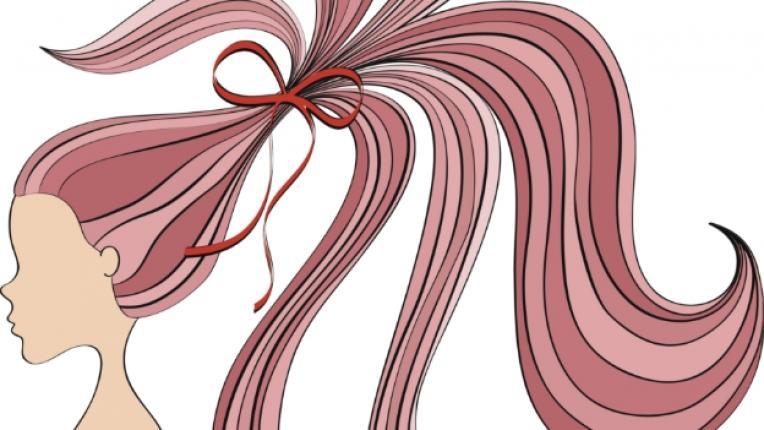 конска опашка прическа коса