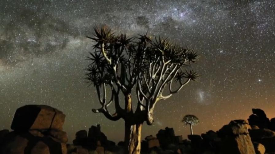 Намибия през нощта (видео)