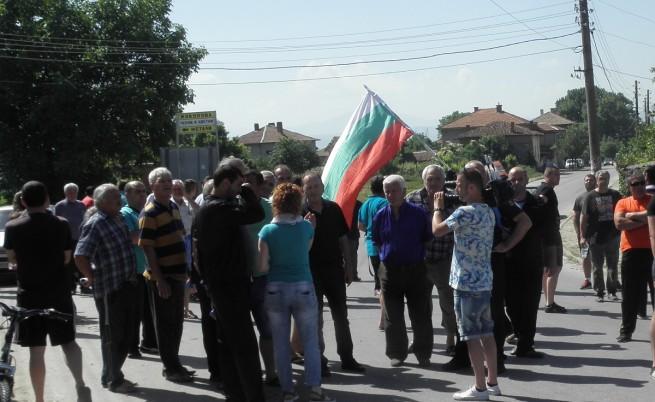 В Гърмен отново протестират срещу ромите