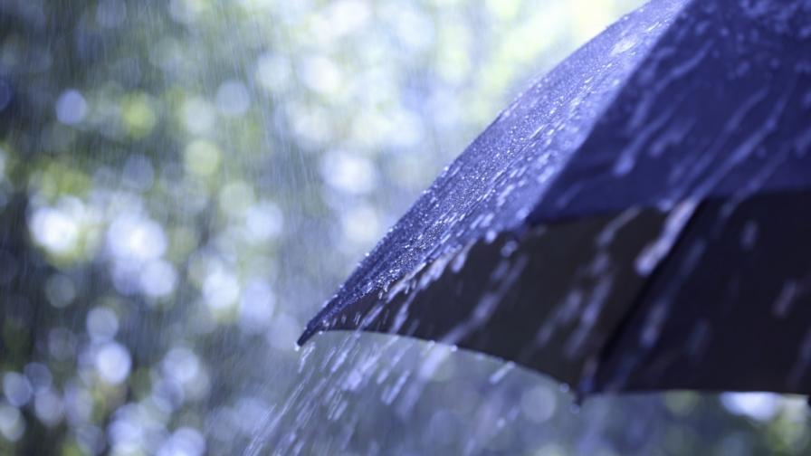 Жълт код за дъжд в шест области