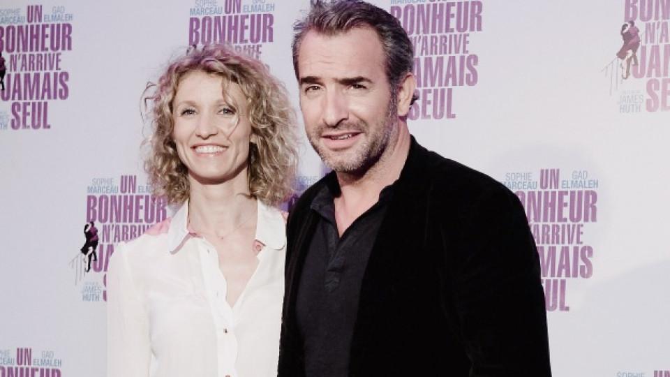 Жан Дюжарден и съпругата му Александра Лами