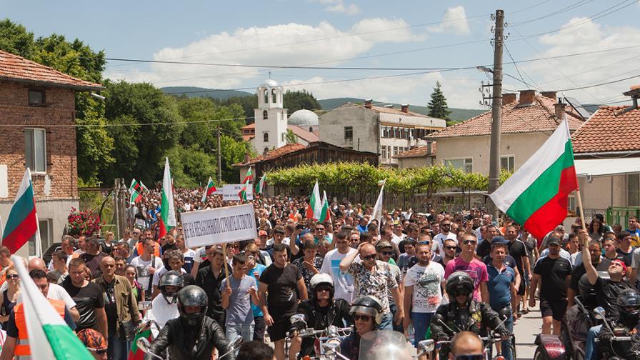 100 дни общественополезен труд за протестиращ в Гърмен