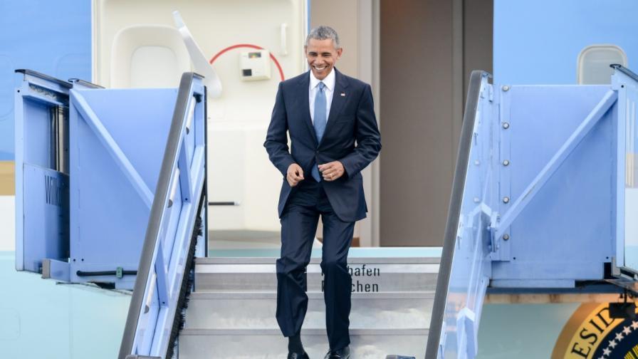 Барак Обама пристигна за срещата на Г-7 в Германия