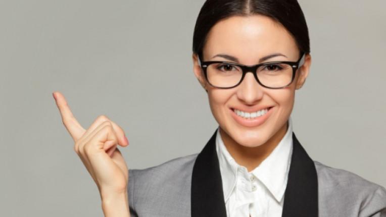 жена бизнес облекло очила