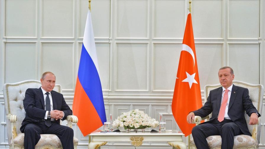 Владимир Путин и Реджеп Тайип Ердоган