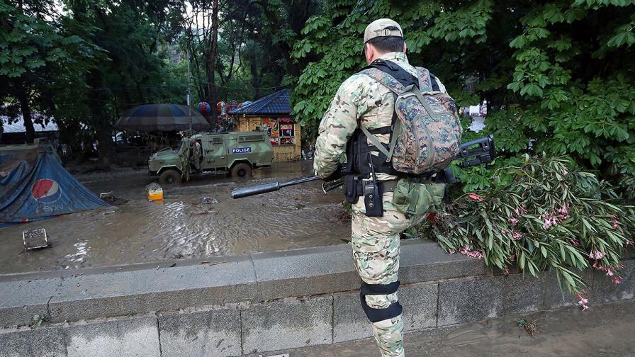 Тигър уби човек в центъра на Тбилиси