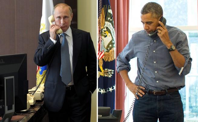 Путин звъннал на Обама