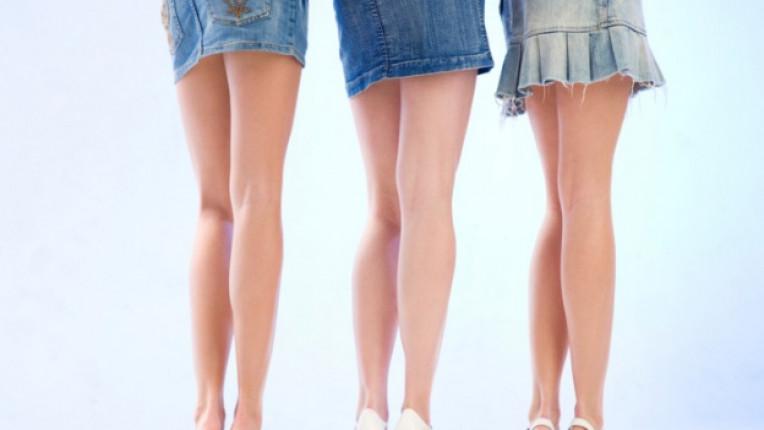 пола крака дълга пола къса пола