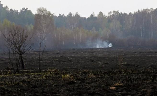 Пожарът край АЕЦ Чернобил е под контрол