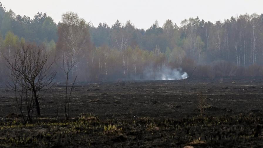 Пожар край АЕЦ Чернобил (архив)