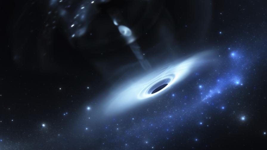 Видяха как черна дупка разкъса звезда като Слънцето
