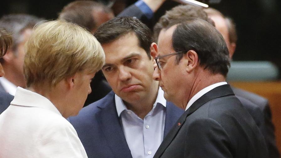 Ангела Меркел, Алексис Ципрас и Франсоа Оланд