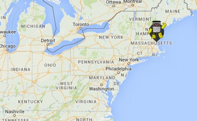 Робот ще прекоси САЩ на автостоп
