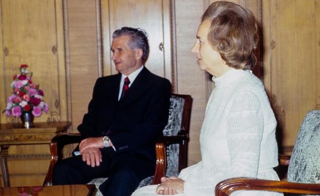 Николае и Елена Чаушеску през 1985 г.