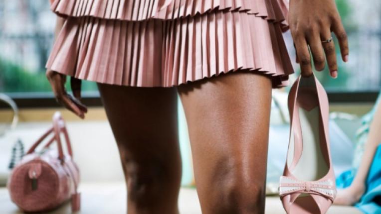 къса пола жена обувки
