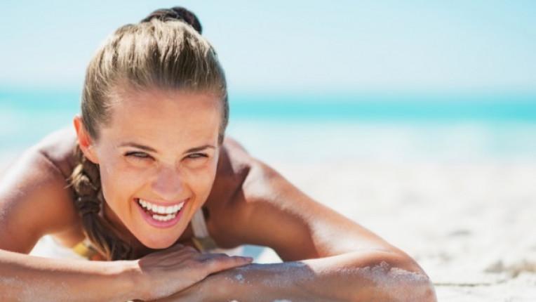 плаж море жена красива