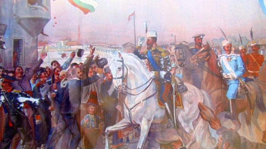Княз Батенберг влиза в Пловдив след Съединението
