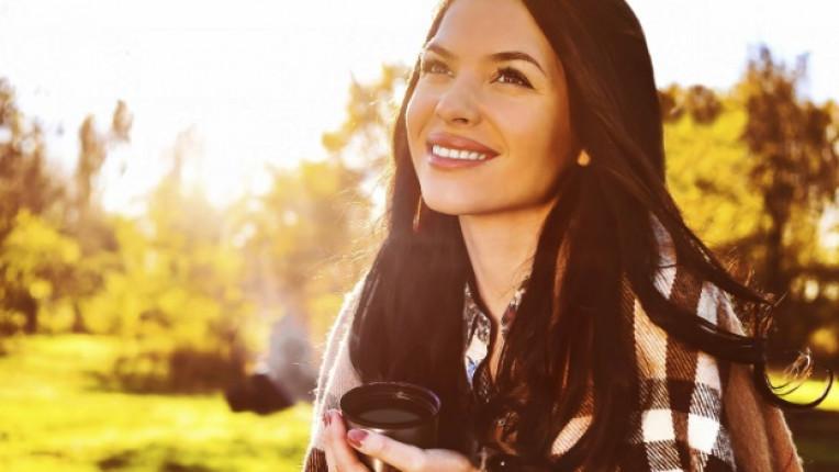 жена природа чай щастие