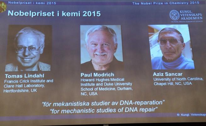 """Нобелът за химия отива за изследвания върху """"ремонта"""" на ДНК"""