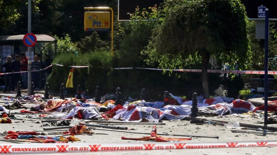 Жертвите на атентата в Анкара надхвърлиха 100