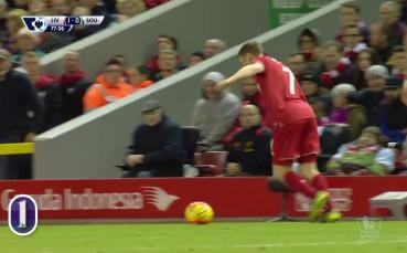 Кристиан Бентеке от Ливърпул за 1 0 срещу Саутхемптън