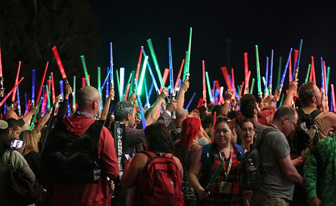 Панелът на Comic-con, посветен на Star Wars 7 Снимка: gettyimages.com