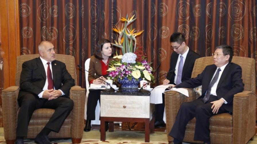 Премиерът Бойко Борисов и кметът на Шанхай Ян Сюн