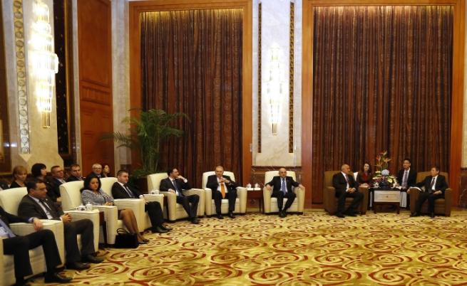 Българската делегация в Китай