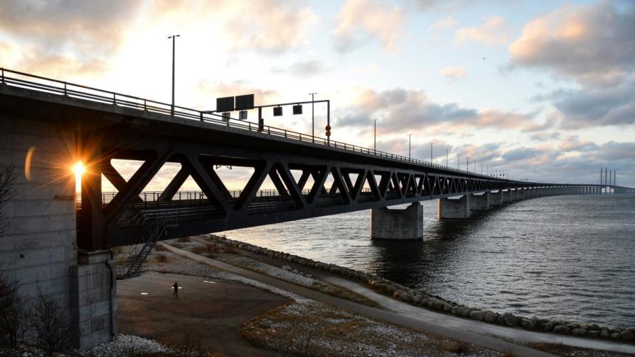 Мостът Йоресунд, който свързва Дания и Швеция