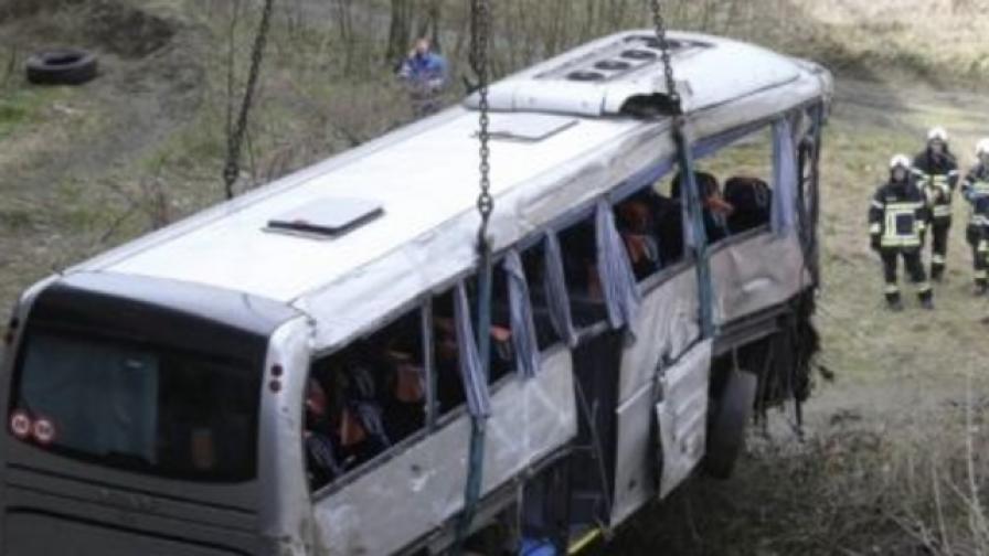 Шофьорът на автобуса не помнел какво се е случило