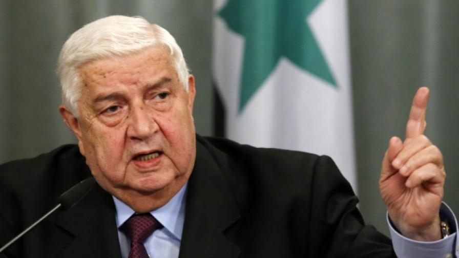 Сирийският външен министър: Ако в страната влязат чужди войници, ще се върнат в ковчези