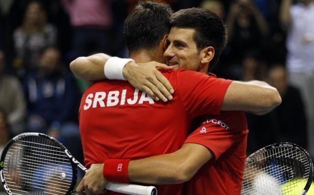 Новак Джокович и Ненад Зимонич<strong> източник: БГНЕС</strong>